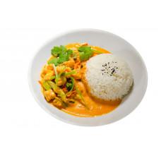 Lotte au curry de malaisie un peu épicé
