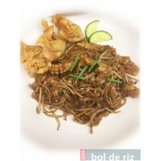 Bento calamars ou crevettes (kway teow) et ses raviolis