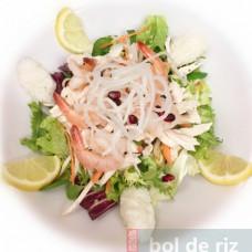 Salade de crevettes et poulet