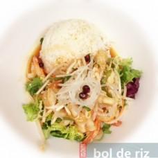 Salade de crevettes et calamars épicé