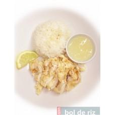 Beignets de poulet à la sauce citron