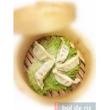 Gyoza légumes 5 pièces ou poulet 4 pièces (vapeur, 10 minutes)